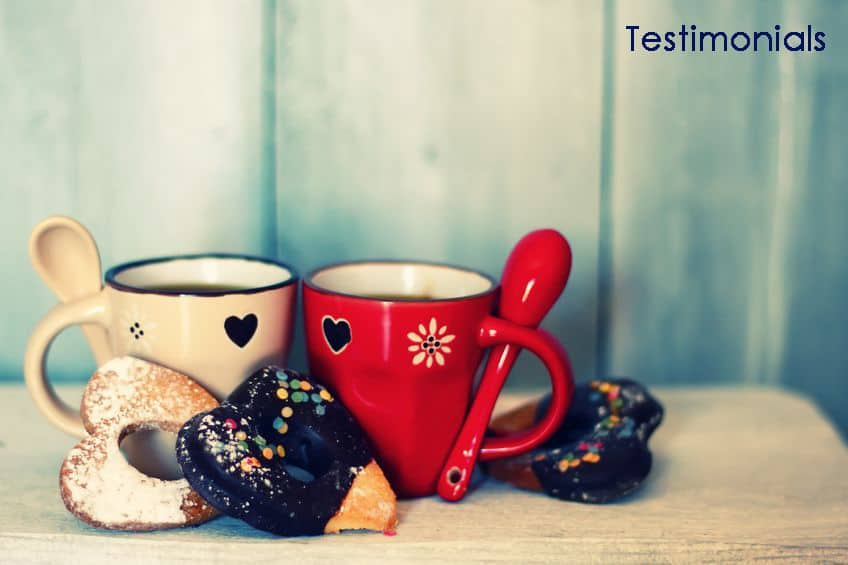 Coffee and biscuits [testimonials]